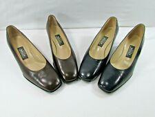 "2- Bally Bellezza Womens Black & Brown Leather 2"" Heel Dress Shoe Pumps (Repair)"