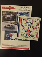 DECALS 1/43 FORD FOCUS WRC CARLOS SAINZ RALLYE MONTE CARLO 2000 RALLY