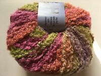 Crystal Palace Yarns Inca Clouds #405 Peruvian Lilies SuperSoft Alpaca Bl Boucle