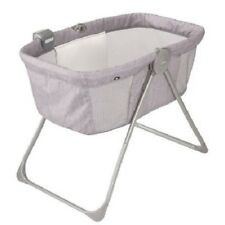 Baby Bassinet Crib Nursery Furniture Infant Newborn Girl Portable Bassinet Grey