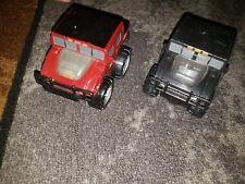 Lot 2 Little Tykes Hummer H2 Spark Racer Power Truck Rev & Go Black Red
