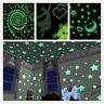 100x Glow in the Dark Stars + Moon Wall Roof Stickers for Kids Children Room