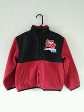 Disney Pixar Cars Lightning McQueen Fleece red black Jacket polyester Boys sz 7