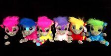 6 x Collectable Korimco Moonlings Funky Lemur Soft Animal Plush Toy 14cm