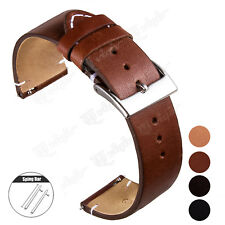 18 20 22mm Genuine Leather Watch Band Wrist Strap For Fossil Watch Quick Release