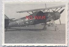 WWII ORIGINAL GERMAN WAR PHOTO LUFTWAFFE AIRPLANE ON AIRDROME =