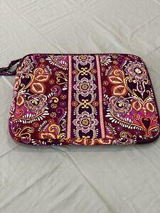 Vera Bradley Laptop Case Bag  Paisley Purple  15x10