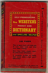 Webster's Pocket Dictionary Royce Publishing 1943