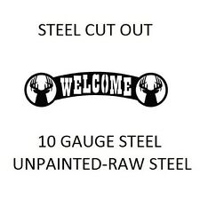 BUCKS metal cutout WELCOME sign -PLASMA CUT