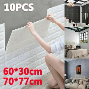 10X 3D Tile Brick Wall Sticker Self-adhesive Foam Wallpaper Panel Waterproof UK