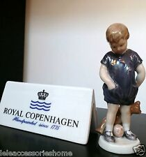 Figurina bimbo con Orsetto Mini porcellana Royal Copenhagen