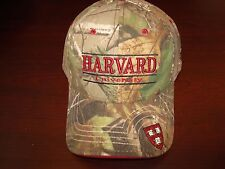 HARVARD CRIMSON CAMO REALTREE THE GAME VINTAGE  HAT CAP VINTAGE FLEX FITTED OSFA