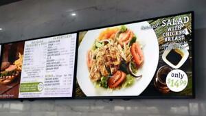 "New LG 75"" 4K UHD Digital Menu board and Conference Room Display"