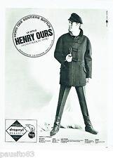PUBLICITE ADVERTISING 036  1965  Henry Ours vetements de ski fuseaux  homme
