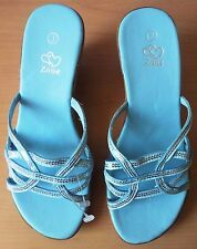 Shoe Zone - Ladies - Womens - Wedge Shoes - Baby Blue - Size 3 UK