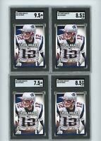 (4) Card Lot 2013 Panini Playoff Absolute #58 Tom Brady SGC 9.5, 8.5 Football