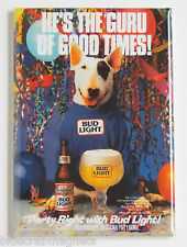 "Spuds Mackenzie ""Guru of Good Times"" FRIDGE MAGNET (2 x 3 inches) beer poster"