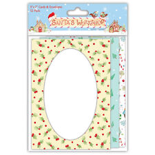 Helz Cuppleditch Santa's Workshop 5x7 Cards & Envelopes