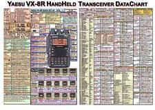 YAESU VX-8R AMATEUR HAM RADIO DATACHART EXT LARGE GRAPHIC INFORMATION (INDEXED)