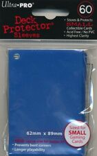 10x PACKS of YuGiOh, Small sized Ultra-Pro BLUE Card Sleeves 60ct NEW!