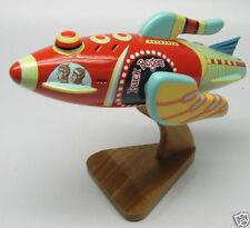 Rocket Ship Buck Rogers Spacecraft Wood Model Small New