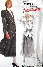 Vtg 80s VOGUE Individualist womens pattern Tamotsu sz 12 B34 skirt jacket top