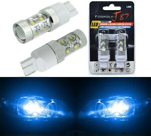 LED Light 50W 7440 Blue 10000K Two Bulbs Front Turn Signal Replace Upgrade