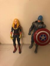 Captain America With Shield And Captain Marvel