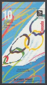 CANADA BOOKLET BK146b 42c x 10 OLYMPIC SUMMER GAMES, WHITE AREA TO RIGHT