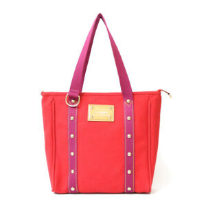 LOUIS VUITTON Shoulder Bag M40034 Red Tote Bag Antigua Hippo MM from japan