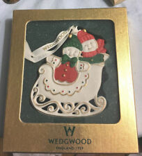 Wedgwood Gingerbread Couple Sleigh Ornament Nib