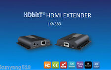 Up to 120m with IR,HDbitT HDMI 1080P Extender LAN Repeater over RJ45 Cat5e/Cat6