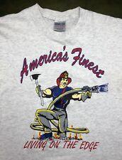 b1b096da Vingage Mens XL 80s 90s Fireman Firefighter America's Finest Fire Hose T- Shirt