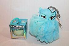 Justice Girls Blue Owl Bath Bomb & Shower Sponge Scrubbie New