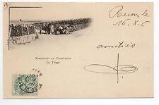CHAMPAGNE CPA 51 Vins Vignes et thémes Vendanges paniers le triage carte nuage 2