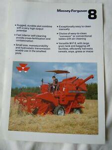 @Massey Ferguson 8 Combine Sales/Specification Leaflet @