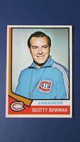 SCOTTY BOWMAN  Montreal Canadiens 1974-75 O-Pee-Chee OPC Rookie # 261 NR/MT 1974