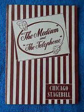 The Medium/The Telephone - Studebaker Playbill w/Ticket - January 10th, 1948