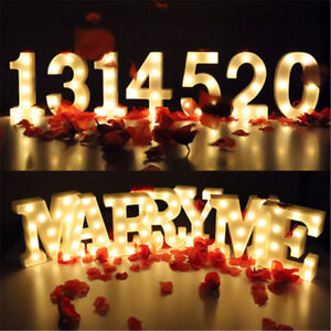 Large Plastic LED Alphabet Letter Number Light For Home Shop Wedding Party Decor