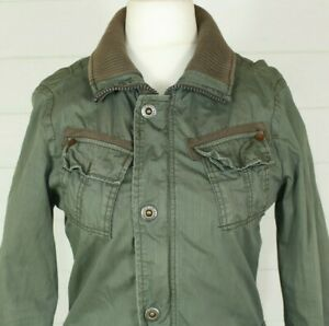 G-STAR RAW Jacket S Military Style Green Casual Utility Cotton Autumn Winter