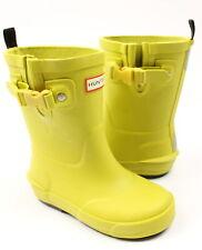 Hunter Kids Girls Davison Rain Boots Yellow Chartreuse 12 New