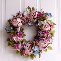 Wandkranz Handgefertigt Kranz Für Outdoor Türkranz Rose Rebe Blumenkranz