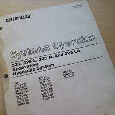 CATERPILLAR 325 Excavator Hydraulic System Operation Service Repair Shop Manual