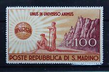 1946 SANMARINO 100 LIRA UNRRA STAMP - MINT