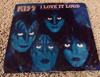 KISS I LOVE IT LOUD / DANGER 45 RPM WITH SLEEVE RARE