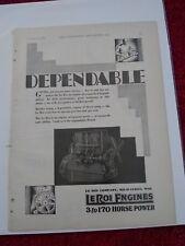 Vintage 1929 LeRoi Engines Advertisement: 3 to 170 Horsepower.  Milwaukee, WI