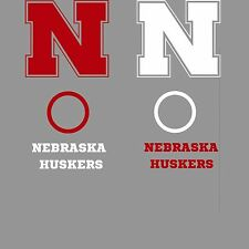 Nebraska Cornhole Decal Set - 6 CORNHOLE Board Decals Vinyl Sticker Minor Flaw