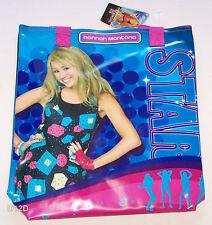 Disney Hannah Montana Girls Blue Pink Printed PVC Library Bag New