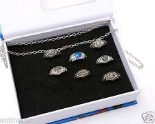 Katekyo Hitman Reborn Vongola 7 Ring + Necklace Pendant Set New in Box