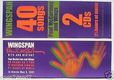 "PAUL McCARTNEY ""WINGSPAN HANDS"" 2-SIDED U.S. PROMO POSTER / BANNER - The Beatles"